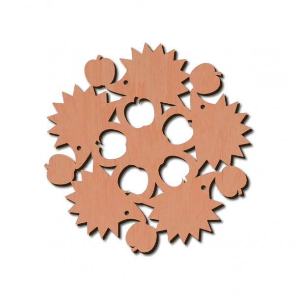 Holzstern - Igel Ø 8 cm