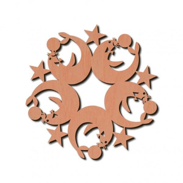 Holzstern - Robbe Ø 8 cm