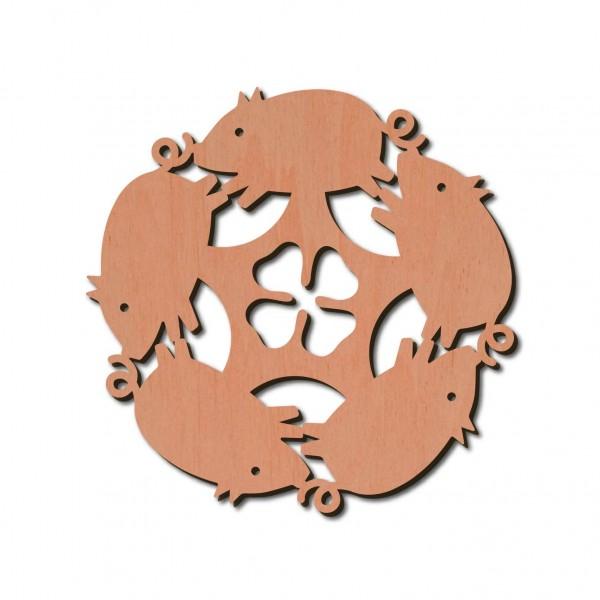 Holzstern - Schwein Ø 8 cm