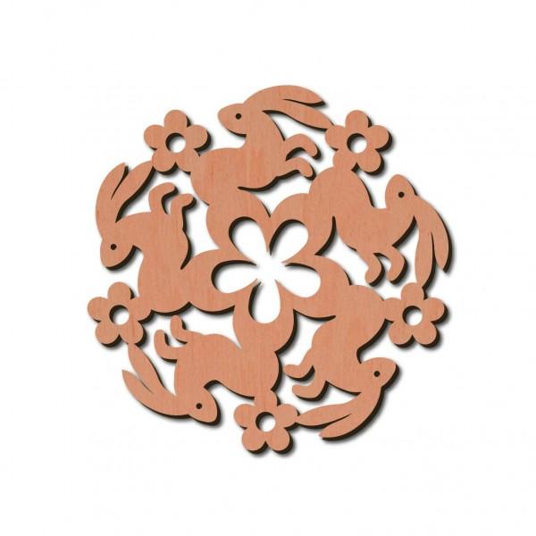 Holzstern - Hase Ø 8 cm