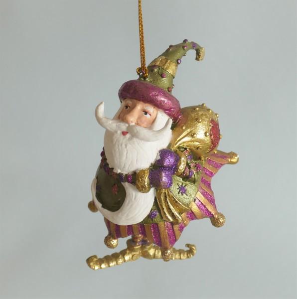 Weihnachtsmann mit grünem Mantel