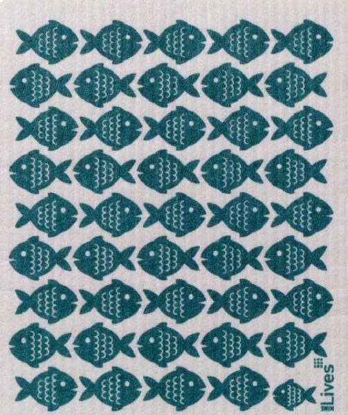 Schwammtuch Fische