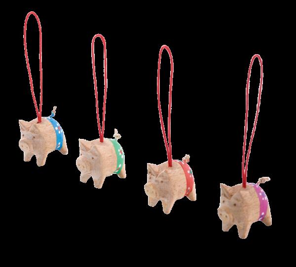 Holzschwein in 4 Farben