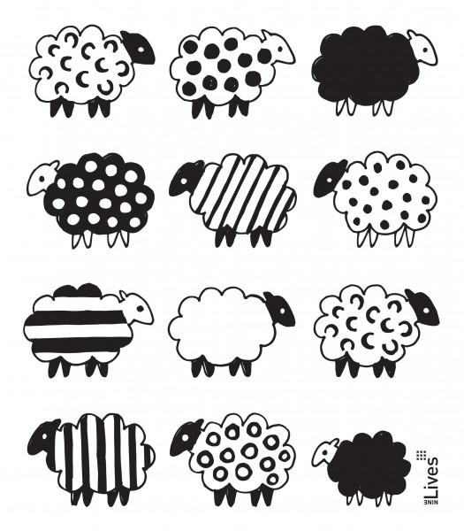 Schwammtuch Schafe