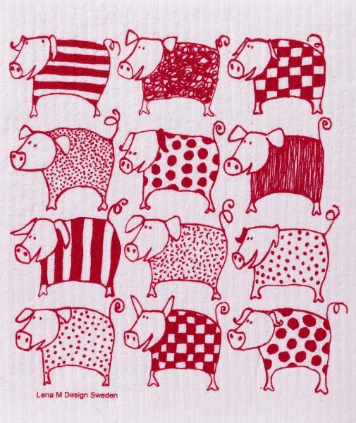 Schwammtuch Schweine