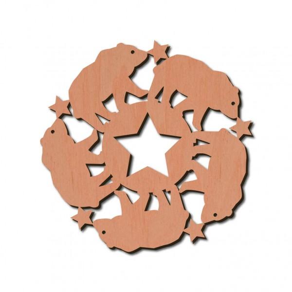 Holzstern - Bär Ø 8 cm