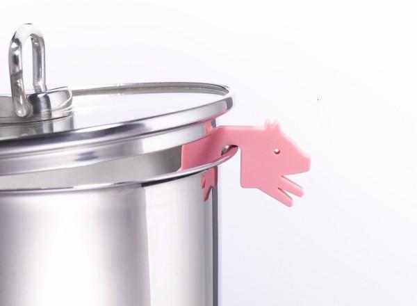 Topfwächter Schwein, rosa