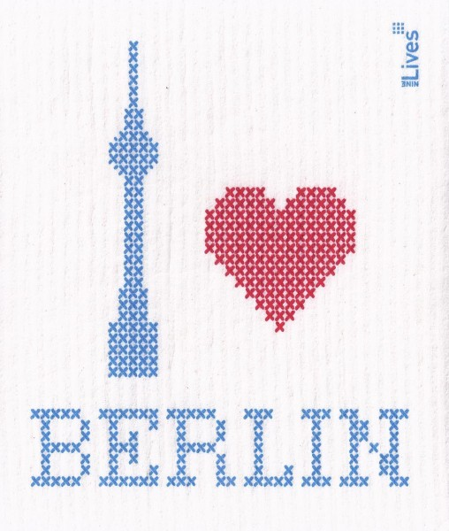 Schwammtuch I love Berlin