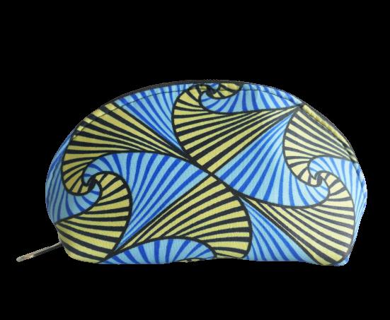 Kulturtasche blau + gelb