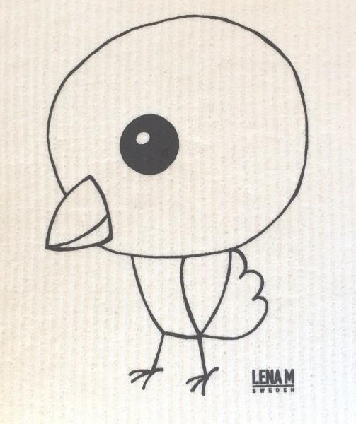 Schwammtuch Vogel