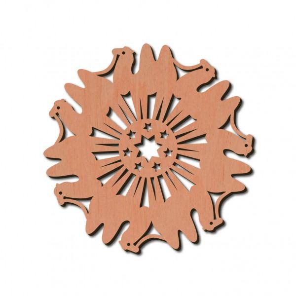 Holzstern - Kamel Ø 8 cm