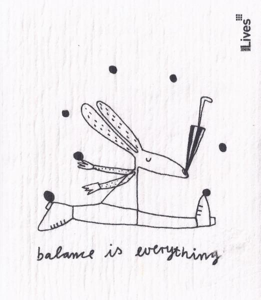Schwammtuch Balance is everything