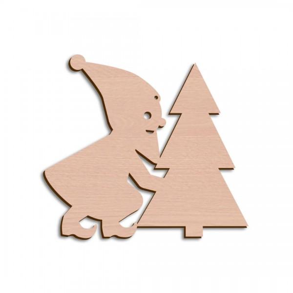 Holzwichtel + Weihnachtsbaum